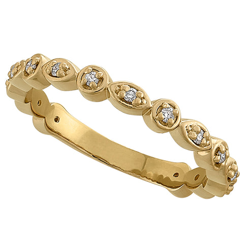 yellow gold vintage stackable wedding rings