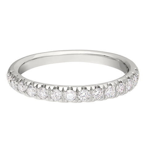 simple diamond band, traditional diamond band, plain diamond band