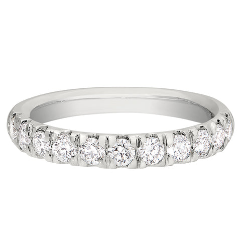 .77 Carat Flat Diamond Band in 14K
