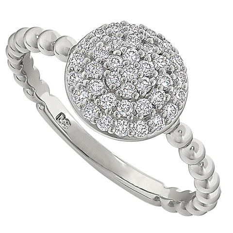 diamond cluster ring, diamond encrusted mandala ring