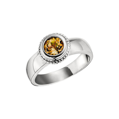 November Birthstone, Citrine Halo Ring, citrine birthstone
