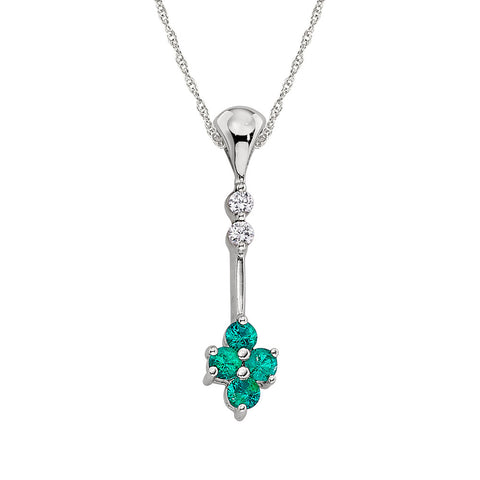 may birthstone, birthstone jewelry, emerald birthstone, emerald drop necklace