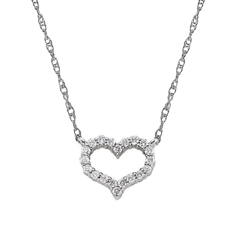April Birthstone, diamond birthstone, diamond heart necklace