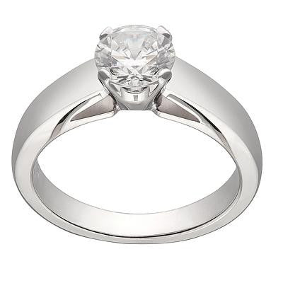 classic solitaire, ring settings, plain engagement ring, simple engagement rings, die struck engagement rings