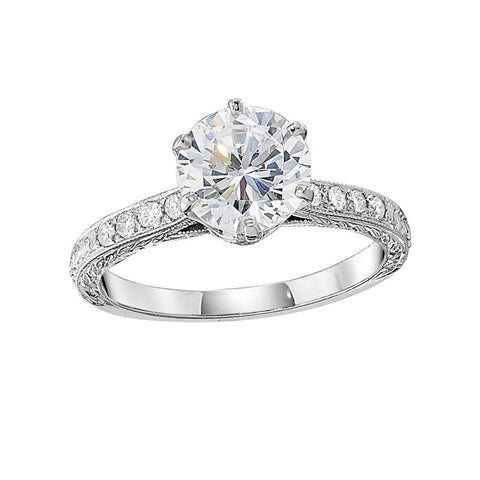 vintage engagement rings, engraved jewelry