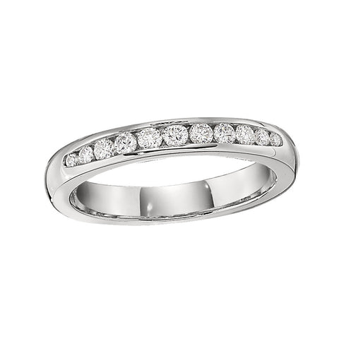 Classic Channel Set Engagement Rings - Tapered Band