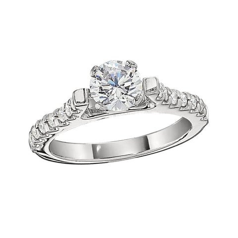 diamond band engagement rings, common prong engagement rings, bead set engagement rings