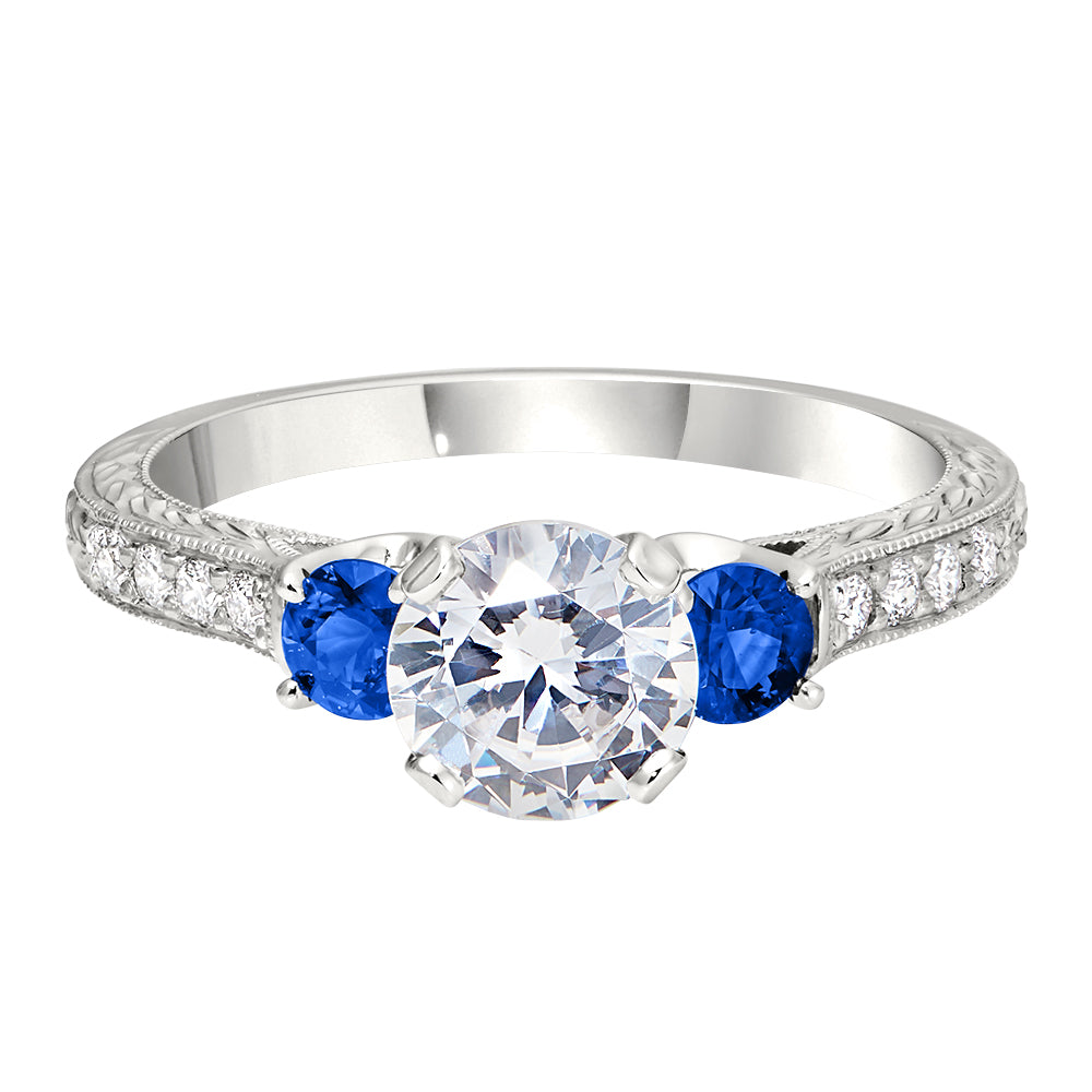 Antique Style Engagement Rings, Sapphire Engagement Rings ...