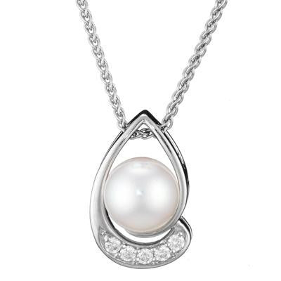 modern pearl jewelry, pearl pendant, modern necklace, pearl necklace