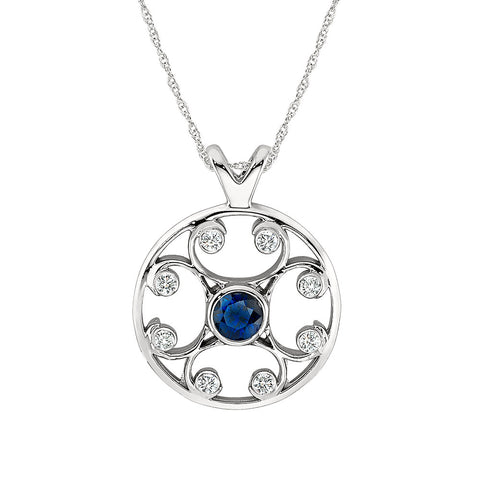 September birthstone jewelry medallion