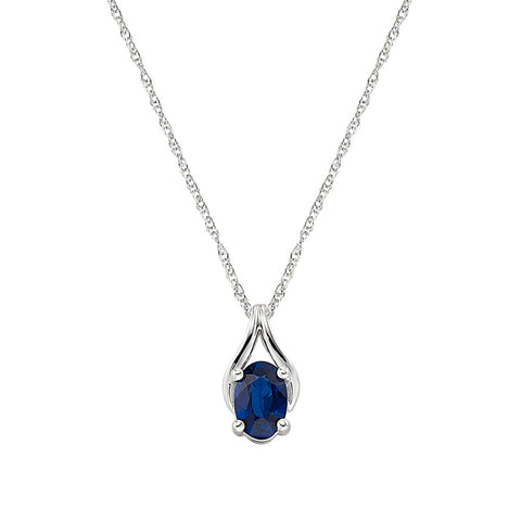 September birthstone jewelry, sapphire wishbone, made in america jewelry