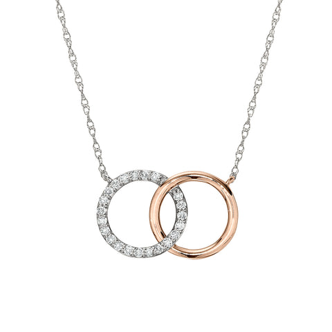 Interlocking Rings Diamond Necklace