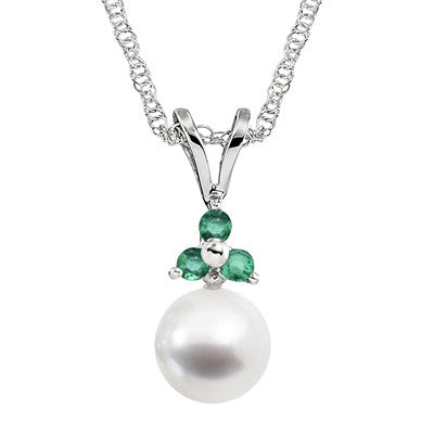 gemstone and pearl necklace, three stone pearl necklace, gemstone and pearl pendant, gemstone and pearl three stone necklace