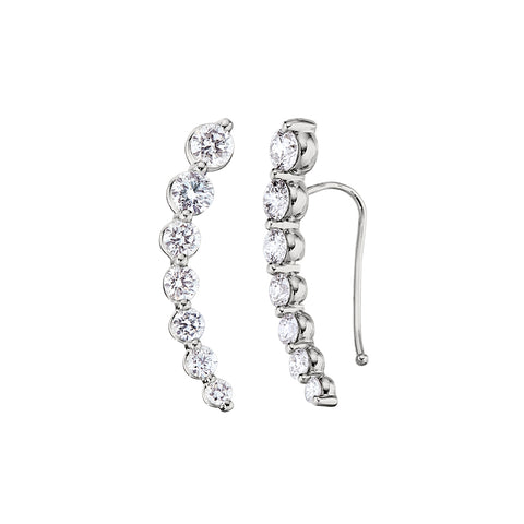Diamond Crescent Earring Climbers