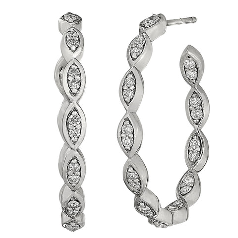 marquis diamond earring hoops