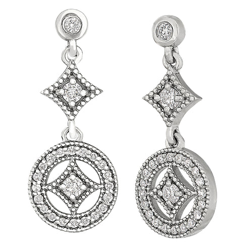 vintage red carpet diamond earrings