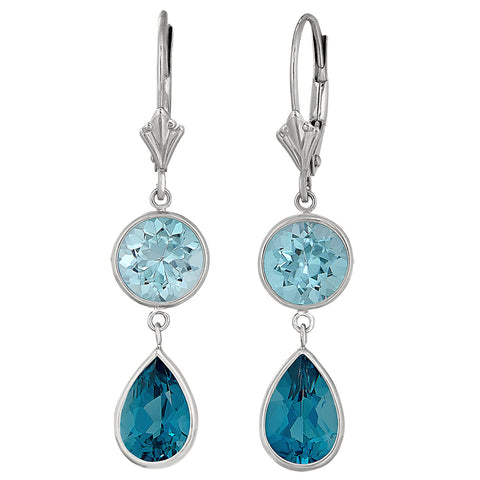 double blue topaz earrings