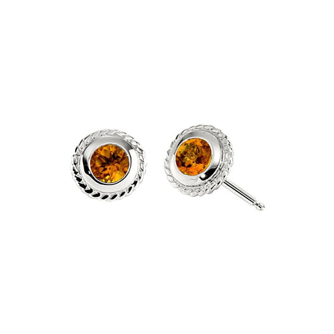 unique birthstone studs, unique November birthstone jewelry, Citrine birthstone jewelry