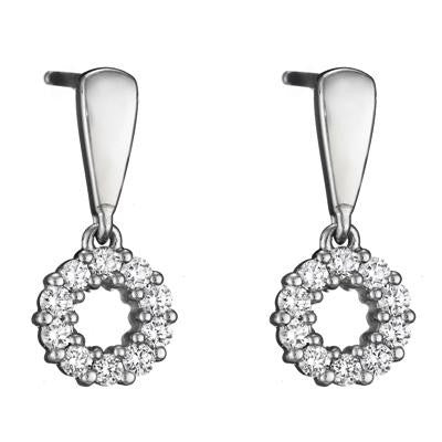 diamond wreath earrings, diamond earrings, modern dangle earrings, drop diamond earrings