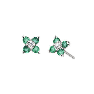 may birthstone jewelry, emerald birthstone earrings, Emerald Earring, Emerald Earring, flower earring, flower earring, diamond and emerald jewelry