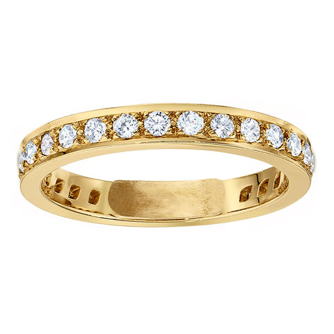 Channel Set Eternity Band in 18K with .02 diamonds