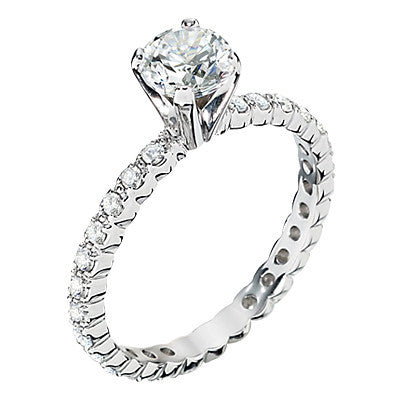 Eternity Style Engagement Ring Mounting Bellas Fine Jewelers