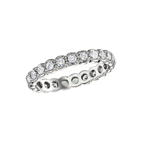 matching wedding bands, vintage wedding rings, vintage diamond eternity band