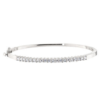 white gold, white gold diamond bangle, made in USA jewelry, white gold bangles, diamond bracelet