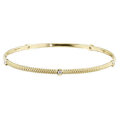 yellow gold, yellow gold diamond bangle, made in USA jewelry, yellow gold bangles, diamond bracelet