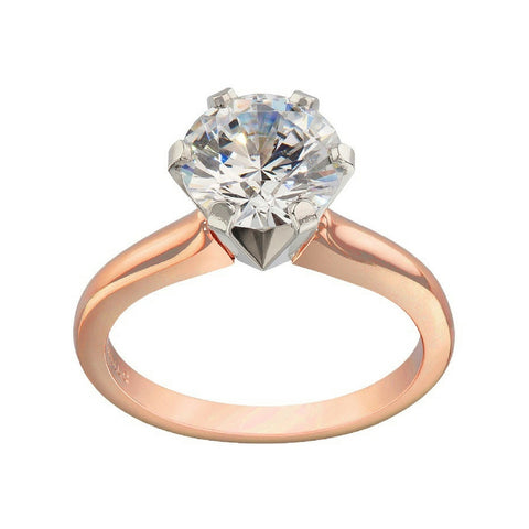 Classic Solitaire Ring Settings, rose gold engagement rings, solitaire engagement rings