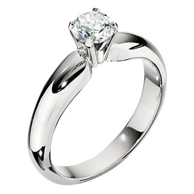 classic solitaire, solitaire engagement rings, ring settings, plain engagement ring, simple engagement rings, die struck engagement rings