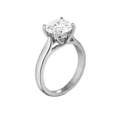 product ring in gold diamond stone trellis white mounting five rings engagement