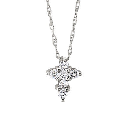small diamond cross necklace, small diamond cross pendant, cross jewelry, diamond cross jewelry