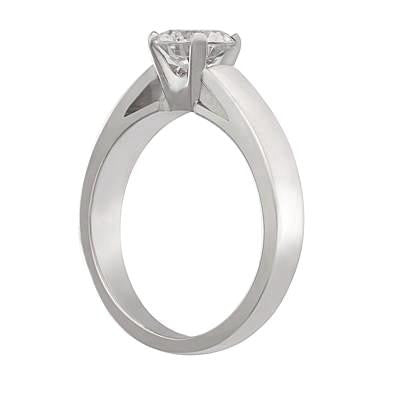 classic solitiare, plain enagement ring, simple engagement rings, die struck engagement rings