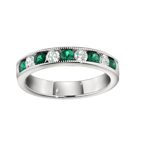Emerald Wedding Rings, Gemstone Wedding Bands, Emerald and diamond wedding ring, emerald wedding ring
