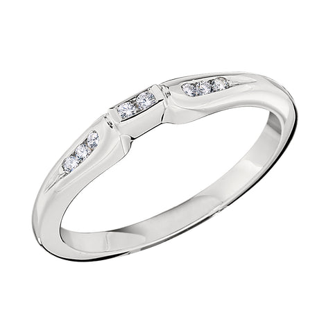 Geometric Jabel Petite Channel Set Wedding Band in 18K White Gold