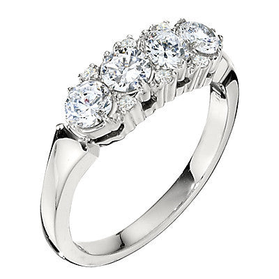 cluster ring wedding bands