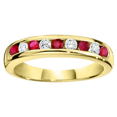 ruby and diamond wedding ring, ruby and diamond wedding band, gemstone wedding ring, gemstone wedding band