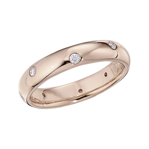 rose gold wedding band, unique wedding rings, modern wedding bands