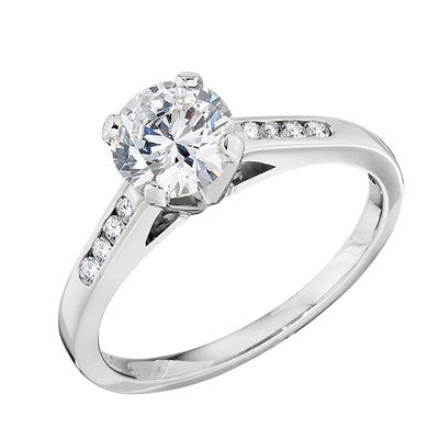 unique engagement rings, diamond band engagement rings, diamond mountings, made in usa