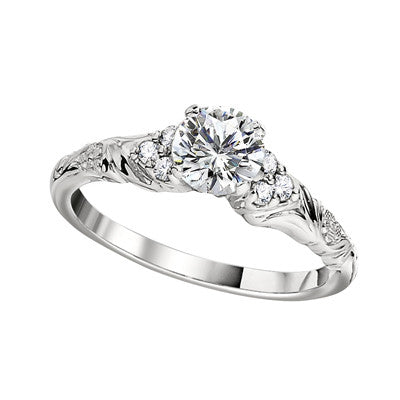 Vintage Style Engagement Rings - Floral Rings  df9d016ee11e