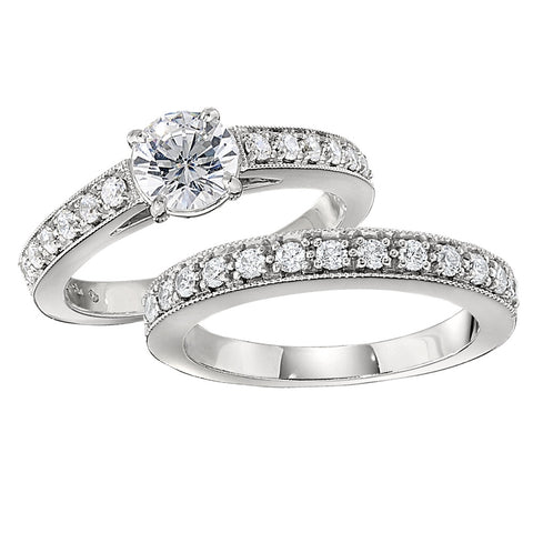 matching wedding bands with engagement rings, classic engagement rings, diamond band engagement rings