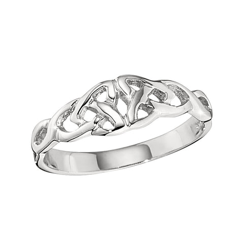 Celtic Knot Ladies Ring in 14K white gold