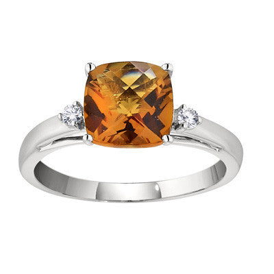 square citrine rings, cushion cut rings, birthstone rings, birthstone jewelry