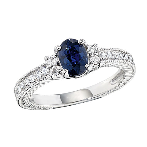 September birthstone, antique style engagement rings