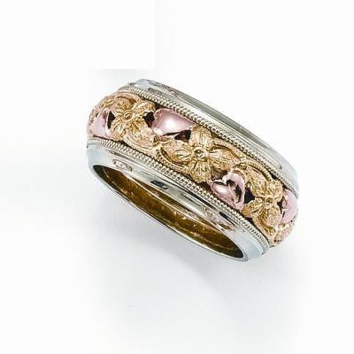 floral wedding rings, vintage wedding rings