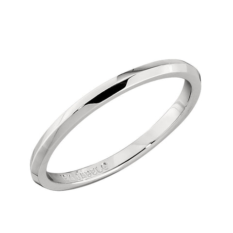 1.8 MM Knife Edge Wedding Band in 18K White Gold