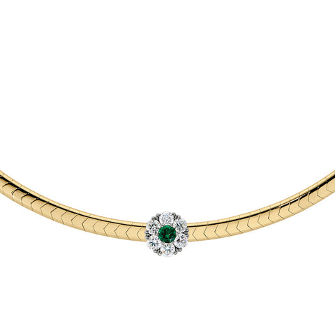 Emerald and Diamond Halo Add-A-Necklace Slide