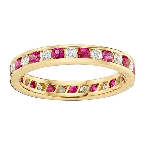 Ruby Wedding Rings, Gemstone Wedding Bands