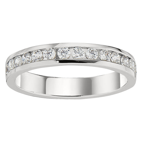 channel set diamond band, classic diamond bands, simple diamond bands